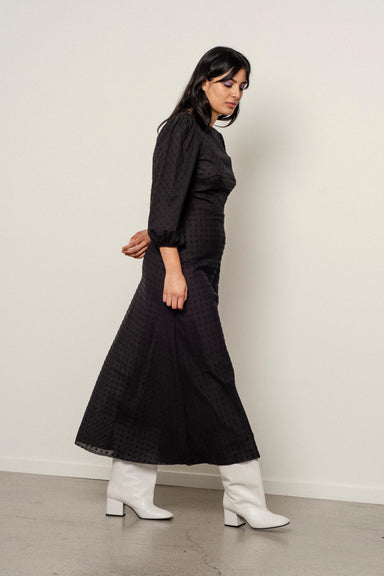 Robin Dress - Black Polka