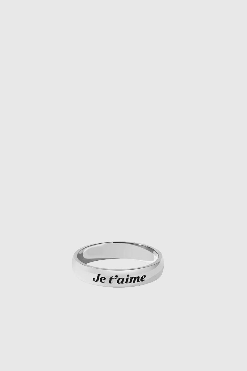 Love Band Round - Sterling Silver/J'taime