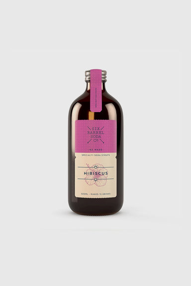 Hibiscus Soda Syrup 500mL
