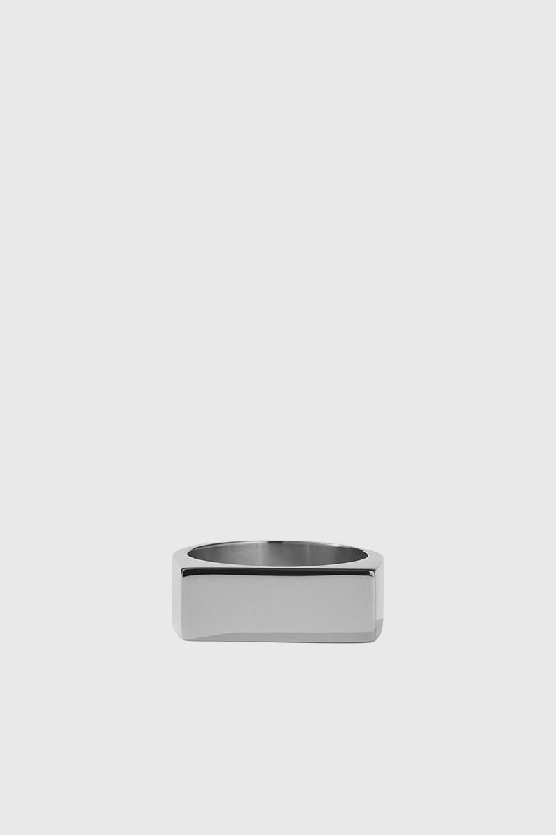 Wilshire Signet Ring - Sterling Silver
