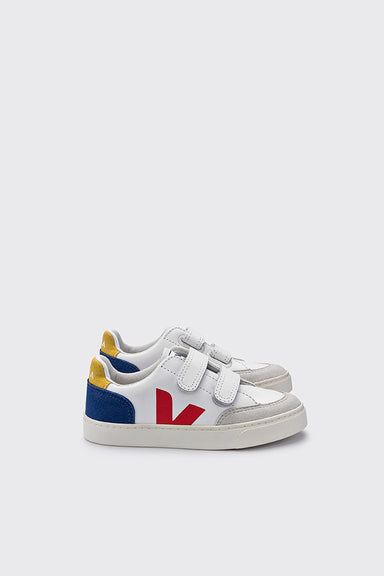 Kids V-12 Velcro Leather - Extra White / Multico / Indigo