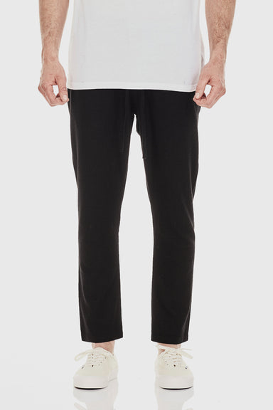 Relaxed Linen Pant - Black
