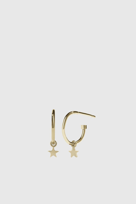 Micro Star Signature Hoop - Gold Plated