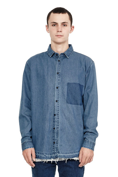 Chambray Shirt - Medium Blue
