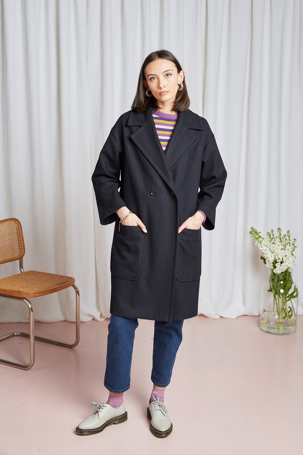 Theatre Coat - Navy
