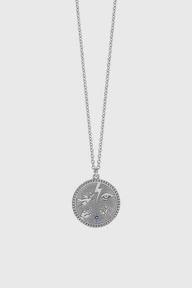 Talisman Necklace - Sterling Silver / Blue Sapphire