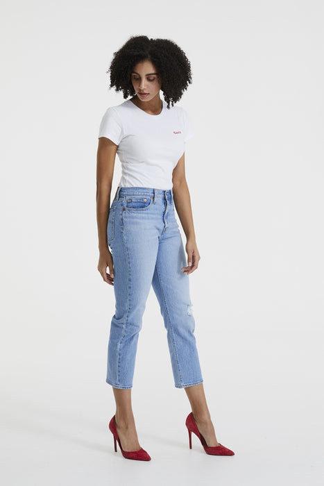 Wedgie Fit Straight Jeans - Tango Blue