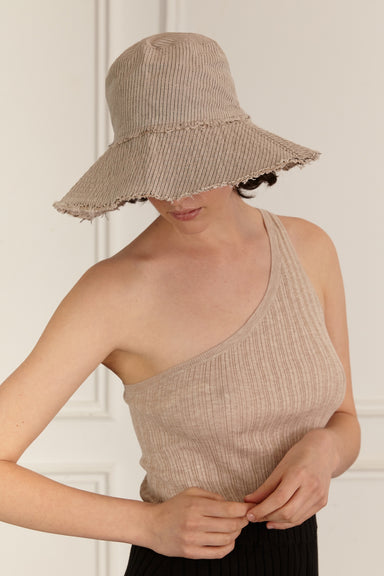 Nonna Hat - Natural Stripe