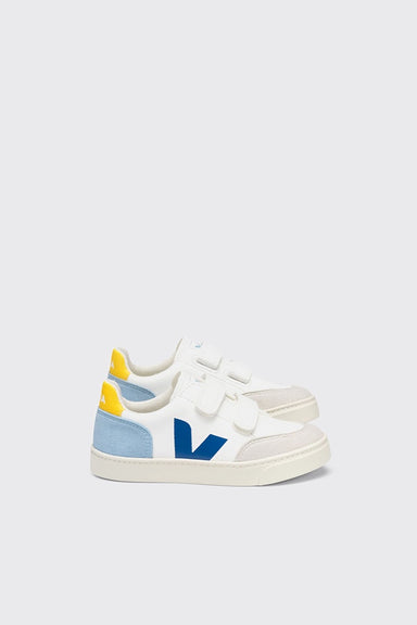 Kids V-12 Velcro Chromefree Leather - Extra White / Multico / Steel