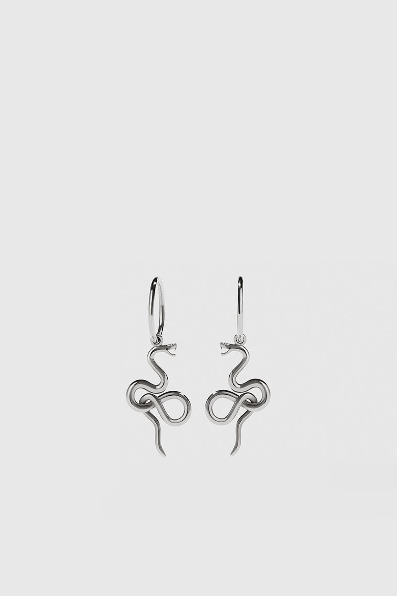 Medusa Endless Hoops - Sterling Silver