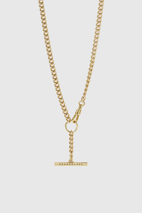 Fob Chain Necklace - Gold Plated