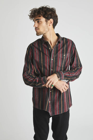 Men At Work Shirt - Cowboy Stripe Red/Black