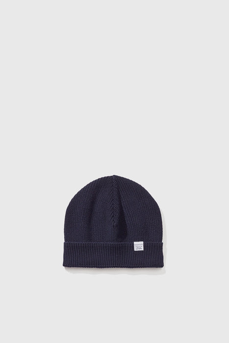 Guernsey Short Beanie - Dark Navy