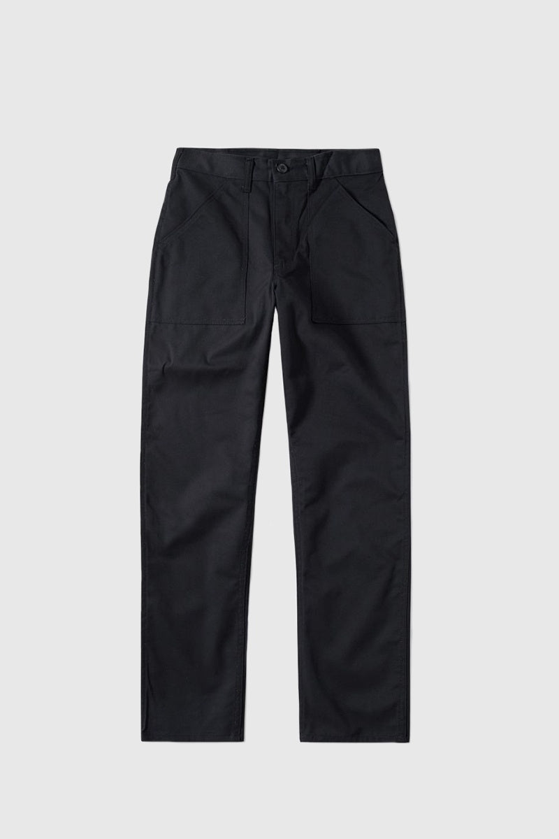 Slim Fit 4 Pocket Fatigue - Black Twill