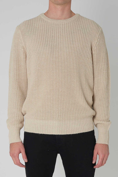 Hemp Blend Crew Knit  - Natural