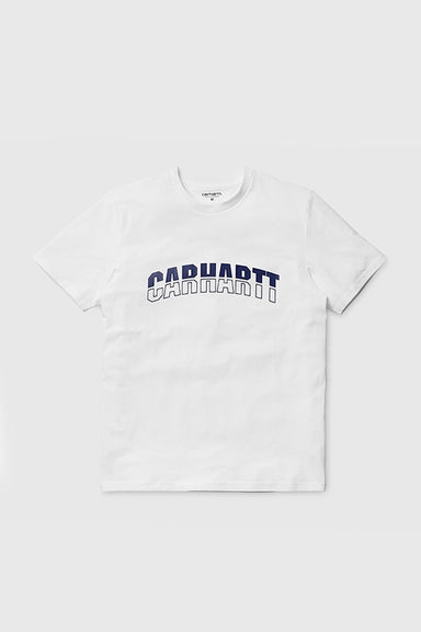 S/S District T-shirt - White / Dark Navy