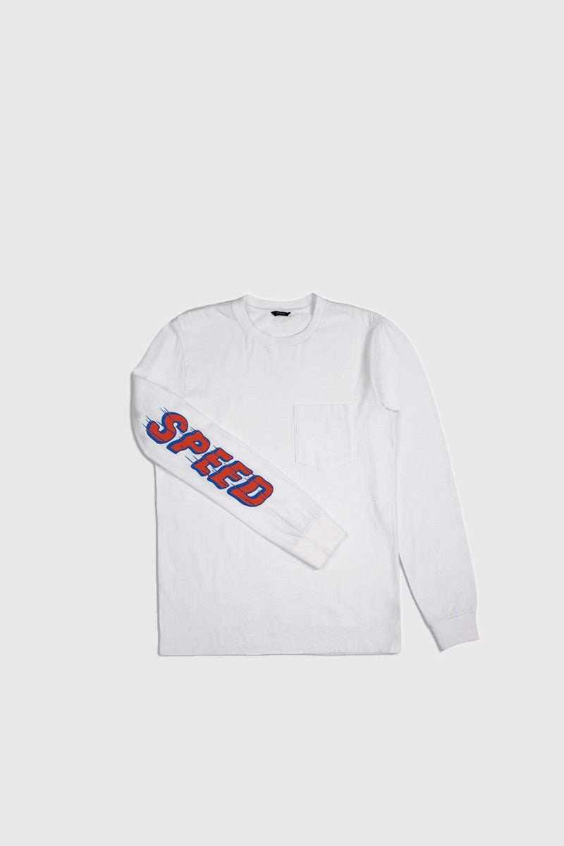 Accelerate Long Sleeve Pocket Tee - White