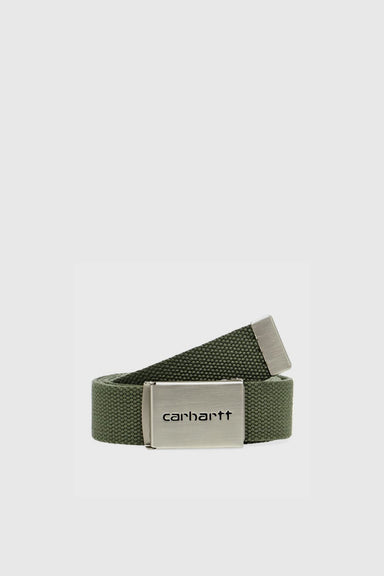 Clip Belt Chrome - Dollar Green