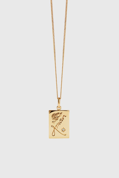 Amour Necklace - Gold Plated / Reclaimed White Diamond