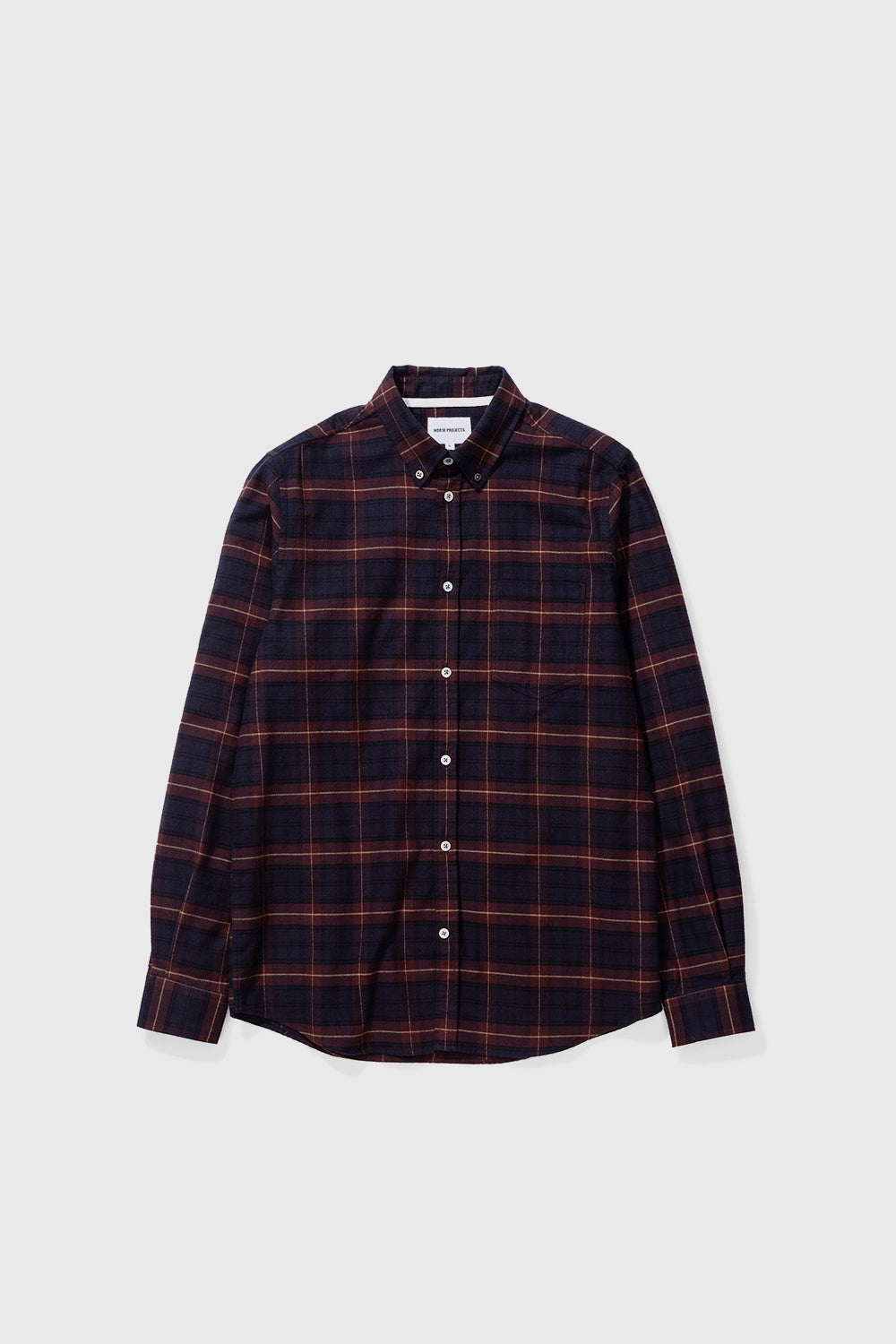 Anton Brushed Flannel Check - Cordovan Brown