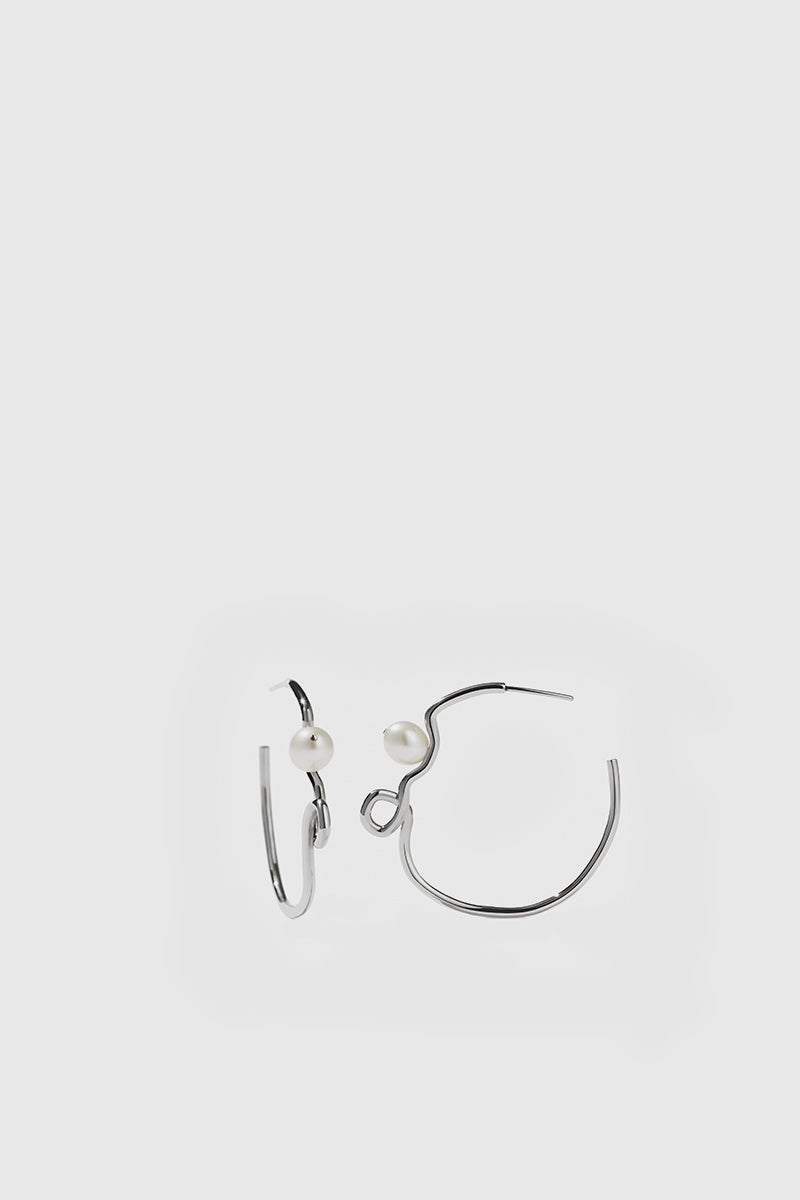 Clio Hoop Earrings - Sterling Silver