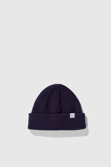 Light Wool Beanie - Dark Navy
