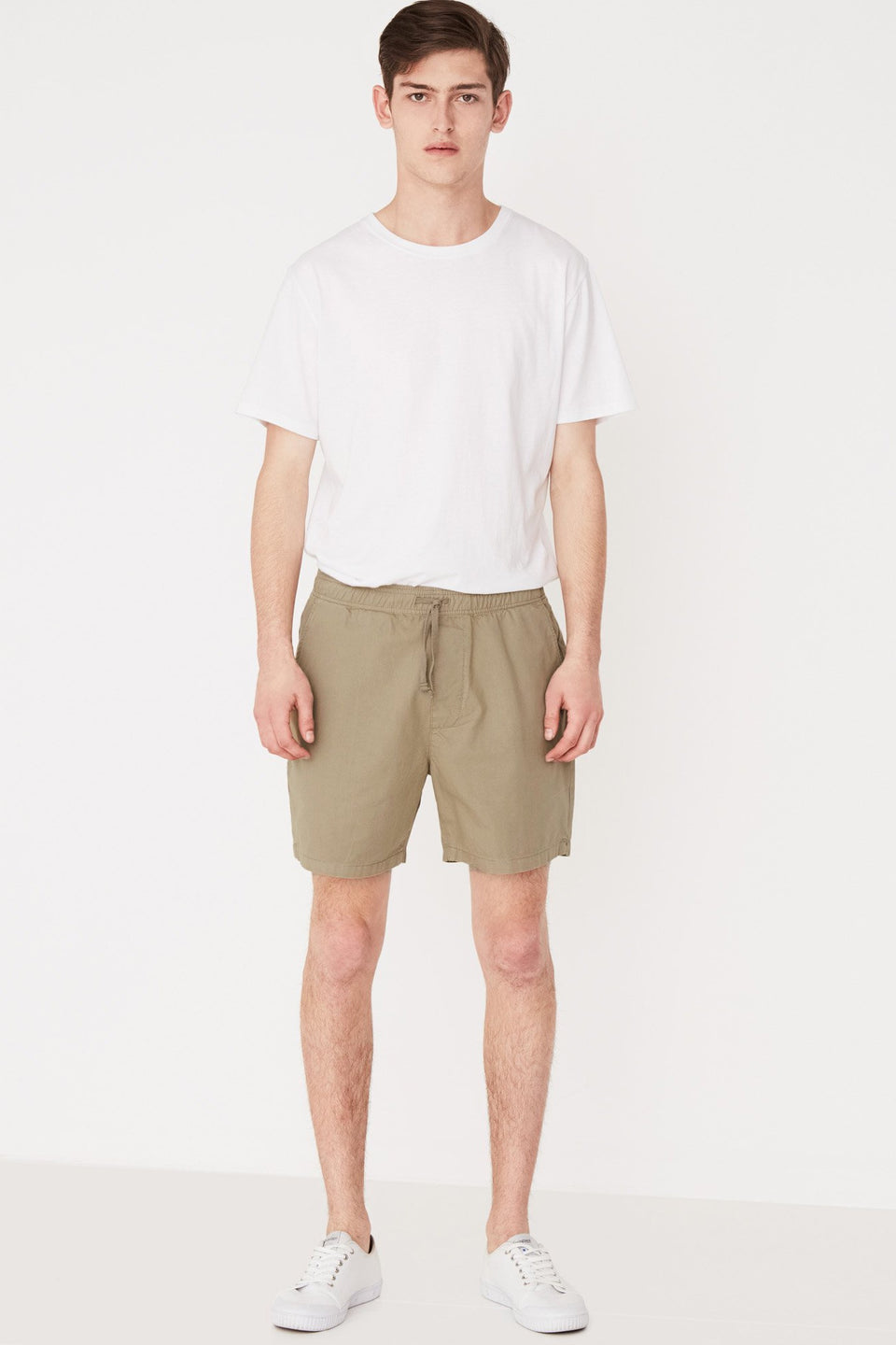 Cotton Walkshort - Olive