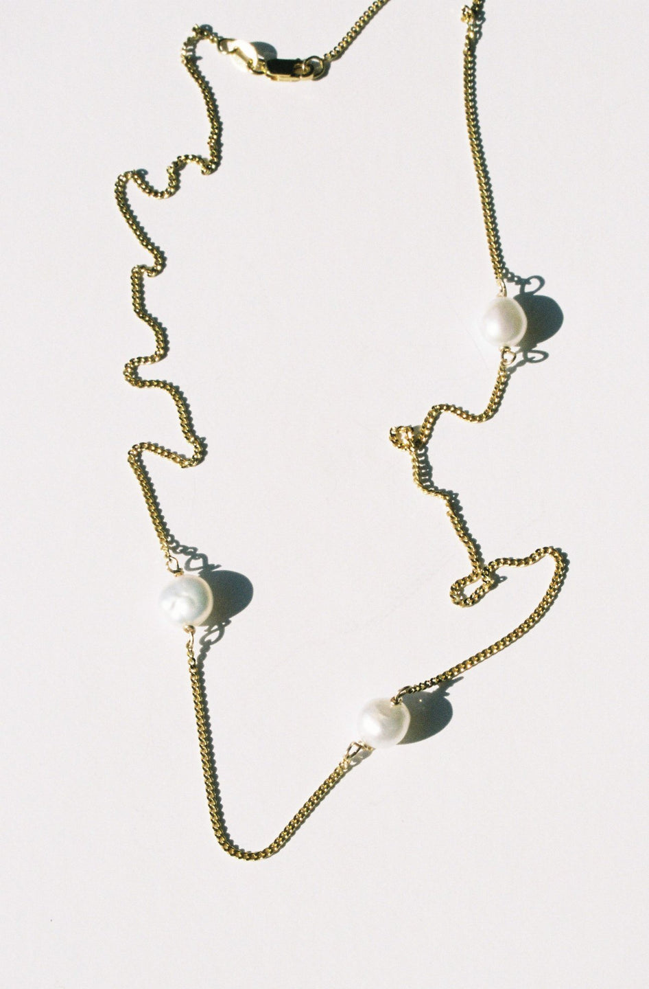 Triple Necklace - Gold Plated / Pearl