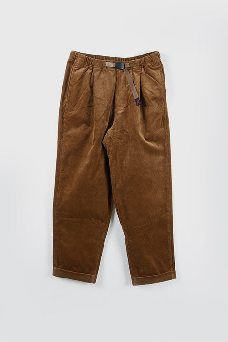 Corduroy Tuck Tapered Pants - Camel