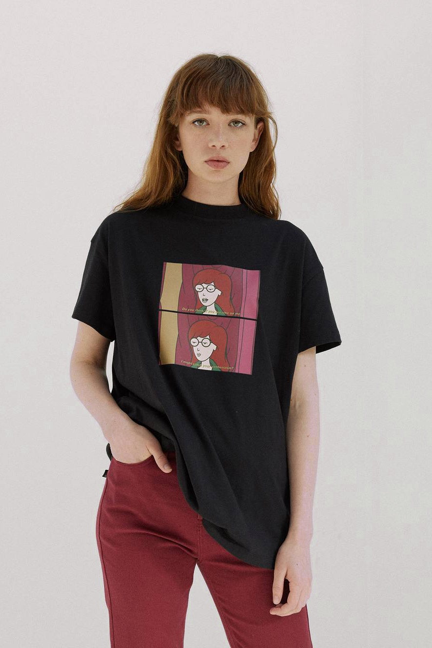 Daria Sighs Oversize Tee - Black