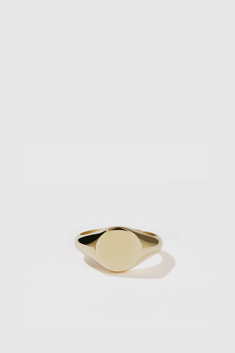 Sunset Signet Ring - Gold Plated