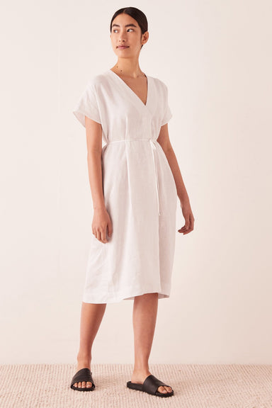 Freya Linen Dress - Silver Grey