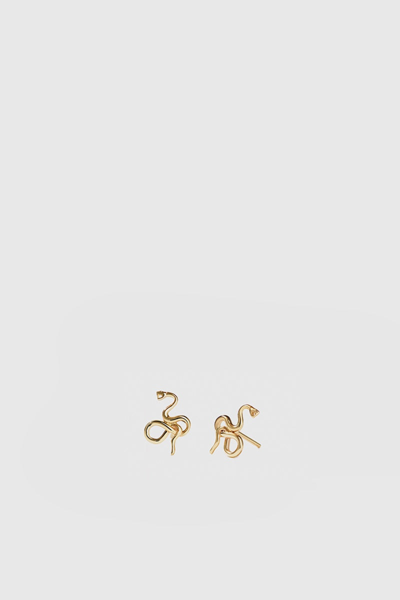 Medusa Stud Earrings - Gold Plated