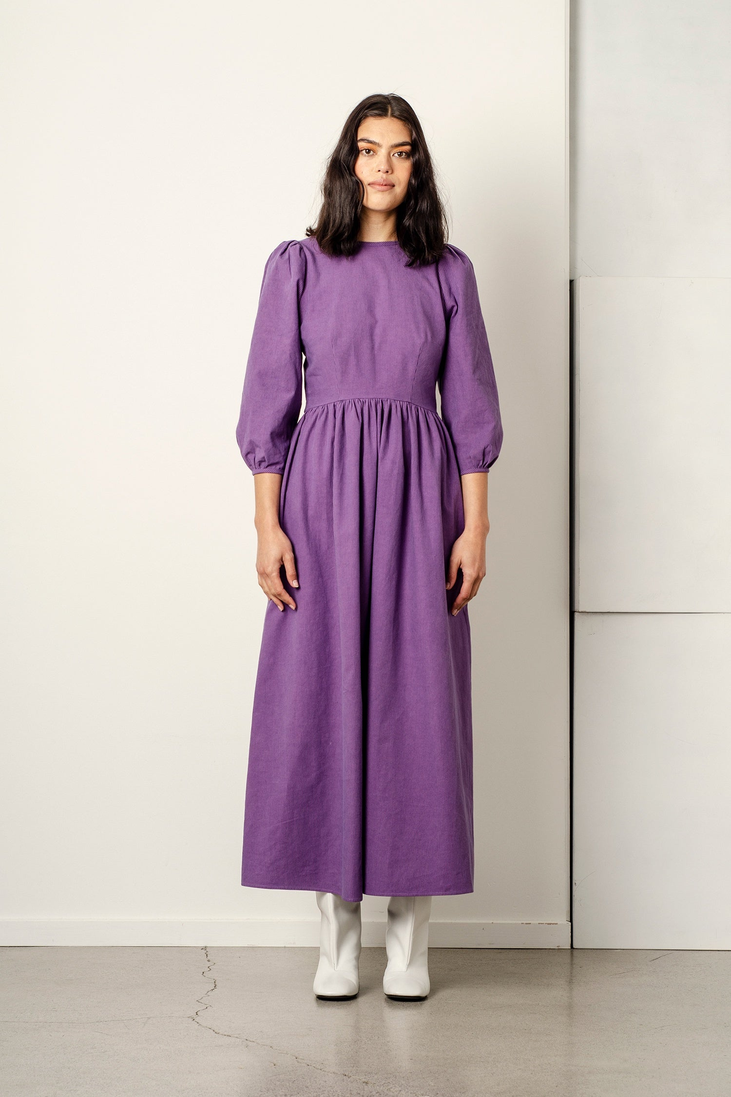 Heidi Dress - Amethyst Stripe