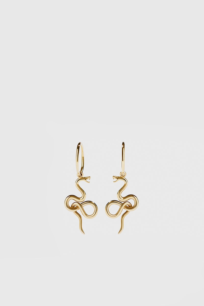 Medusa Endless Hoops - Gold Plated
