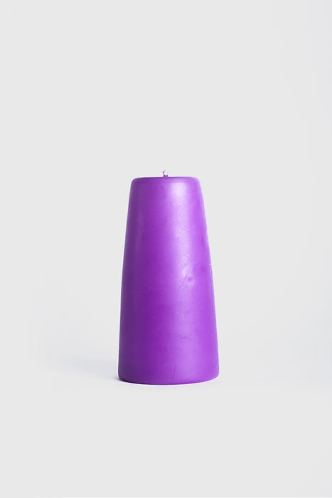 90x180mm Cone Candle - Lilac