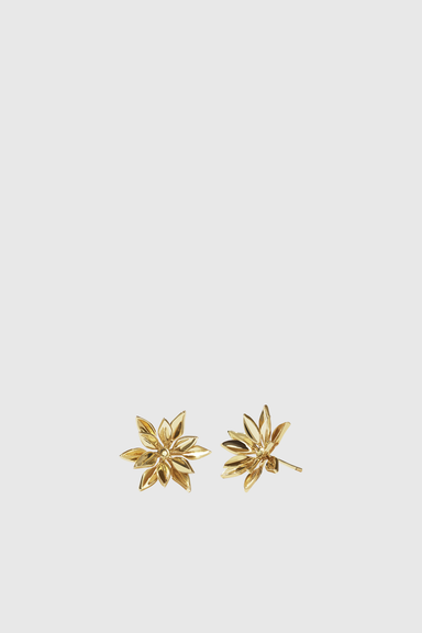Fleur Stud Earrings - Gold Plated