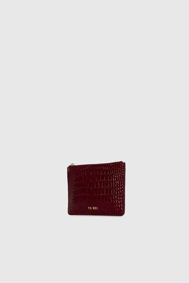 1/8 Amy Clutch - Tamarillo Croc