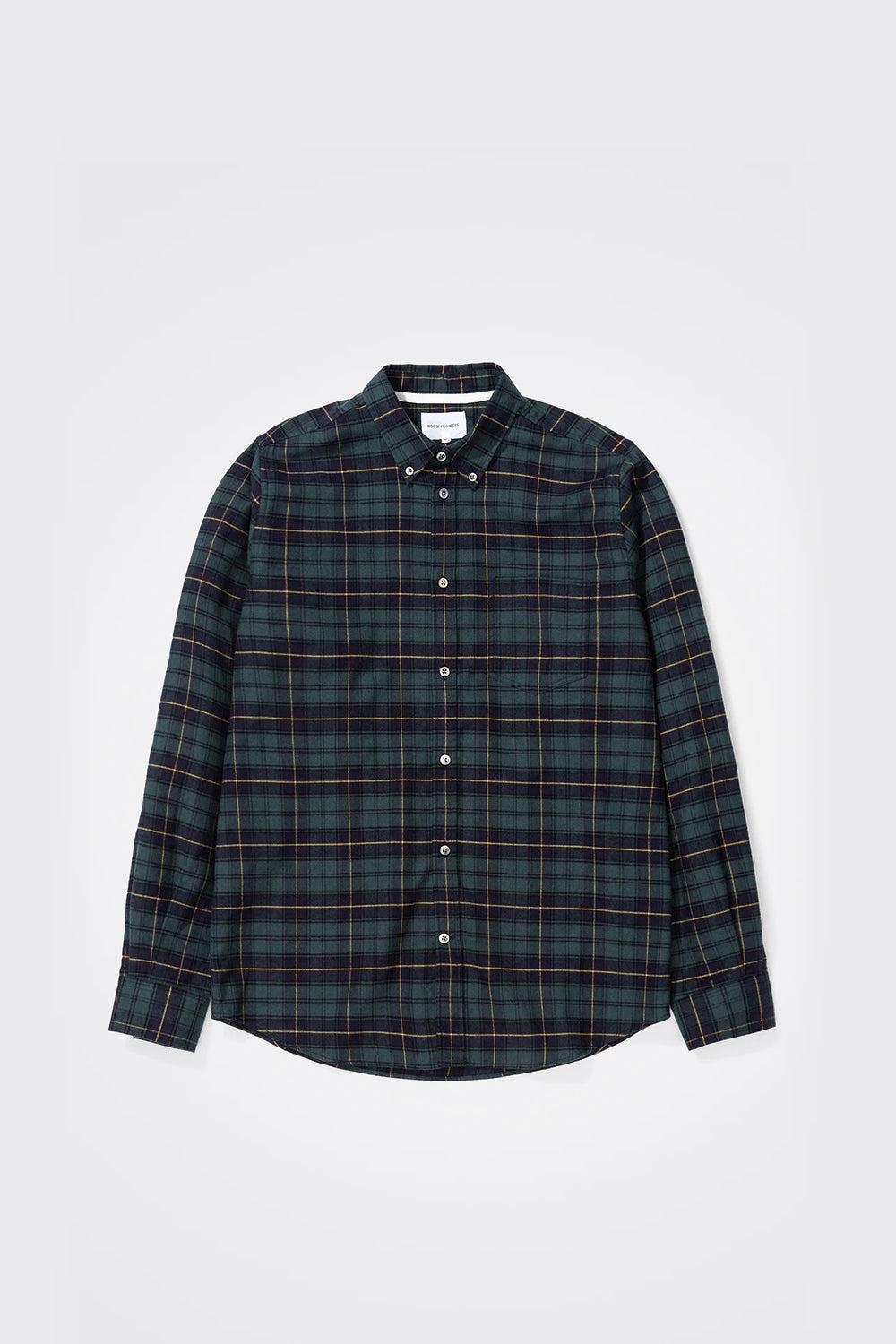 Anton Brushed Flannel Check - Black Watch Check