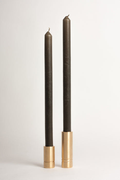 Set of Two Candle Holders - Brushed