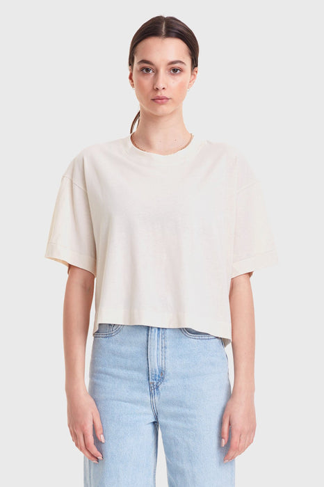 Cropped Boy Tee - Natural