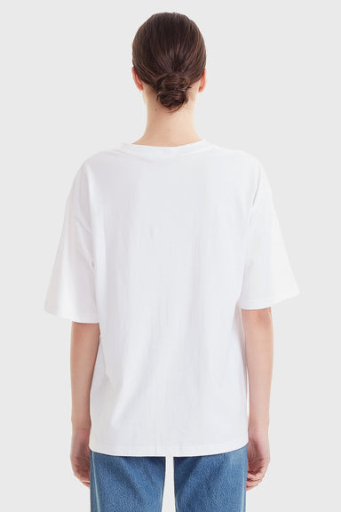 Women's Organic Cotton Relaxed Tee - White