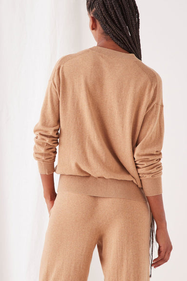 Cotton Cashmere Lounge Jumper - Taupe