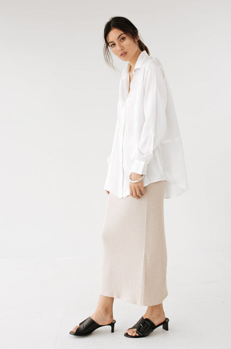 Devon Shirt - Ivory Silk