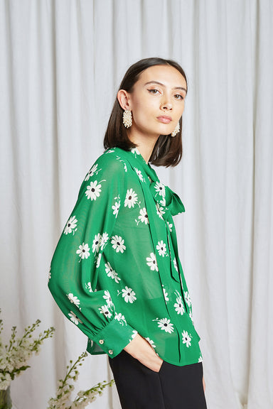 Year Zero Blouse - Green Daisy