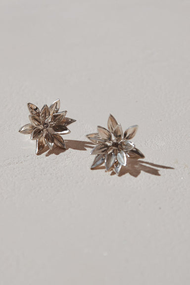 Fleur Stud Earrings - Sterling Silver