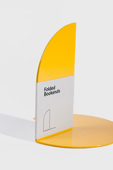 Folded Bookend Pair - Yellow