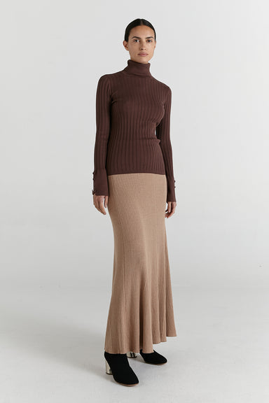 Remi Turtle Neck - Dark Mink