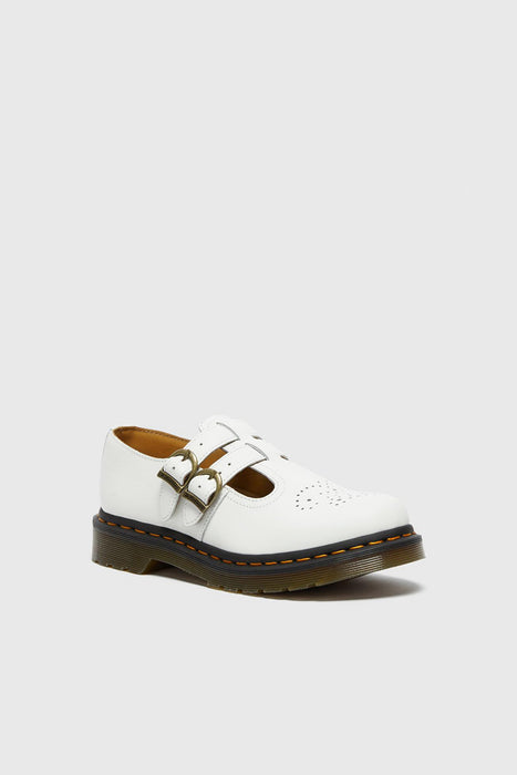 8065 Smooth Leather Mary Jane Shoes - White