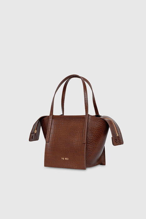 3/4 Milly Bag - Cognac Croc